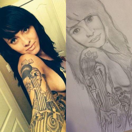 The beautiful suicide girl hopeful Sega Sketch Drawing Art Sketches C.c