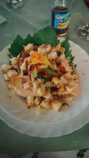 Delicious Food Lunch Cesar Salad Nestea