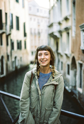 Film Photography Happiness Italy One Person Outdoors Portrait Smiling Travel Venice Women