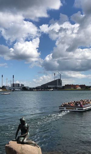 The little mermaid 🧜‍♀️ Denmark Copenhagen Thelittlemermaid Mermaid Boattour Cloud - Sky Sky Architecture Water Built Structure Transportation Nautical Vessel Men Outdoors River Building Exterior Real People Day Nature People City