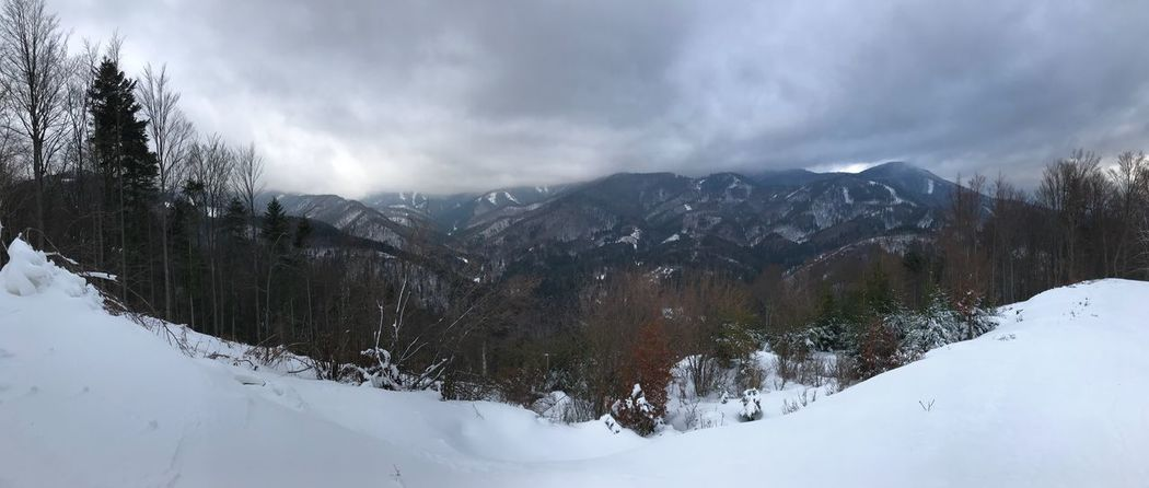 IPhoneography Snow Winter Cold Temperature Weather Mountain Nature Beauty In Nature Outdoors Panoramic Scenics Sky No People