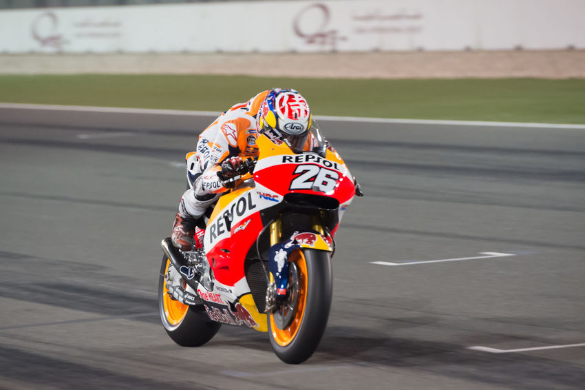 MotoGP riders during the final preseason test before the start of the 2016 MotoGP season Danipedrosa Losail LosailCircuit Motogp MotoGP2016 Motorcycle Motorsports Preseason Qatar Race Racing Test