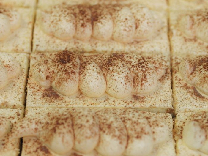 Backgrounds Brown Cake Close-up Dessert Freshness Full Frame Indoors  Man Made Object No People Selective Focus Tiramusu