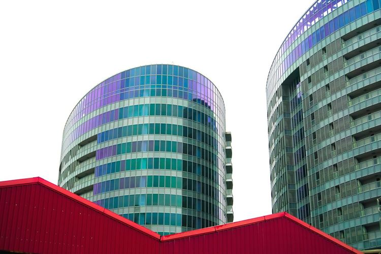 City Lines And Shapes Lines Reflection Red Color Red Lifestyles Life Cityscape City Life Looking Light And Shadow Walking Silence Alone Time Colors Beautiful Colorful Glass Art Glass Reflection Building Exterior Office Office Building Exterior Clear Sky Low Angle View Day Glass - Material No People Alloy