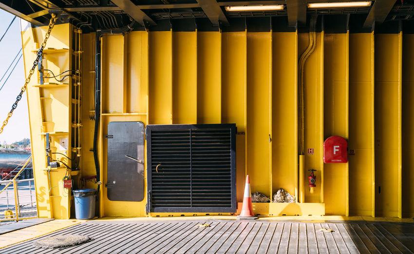 Interior of yellow building