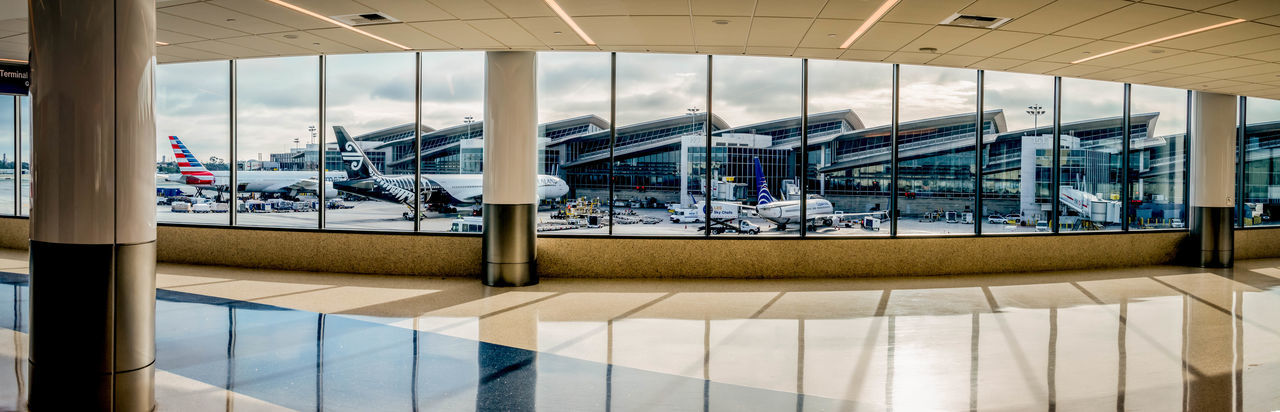 Panorama of Los Angeles International Airport and airplanes parked outside AirPlane ✈ LAX Los Angeles International Airport Los Angeles, California Panorama Travel Travel Photography Traveling Air Airplane Airplanes Journey Lax Airport Panoramic Photography Travel Destinations