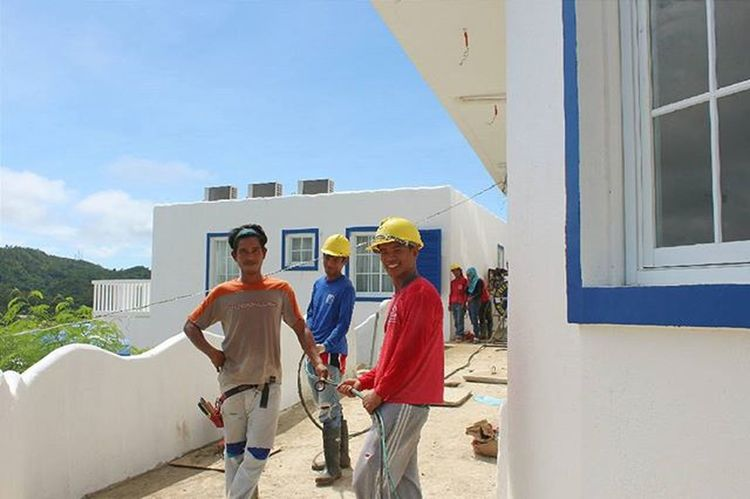 The people behind in the making of Santorini of the north Photographsbyjeremiah Vitalisvillas Constructionworker Philippines Travel Ilocossur VSCO Vscocam Vscophile Vscopinas Instagood Instapic Instamoment Photography Architecture