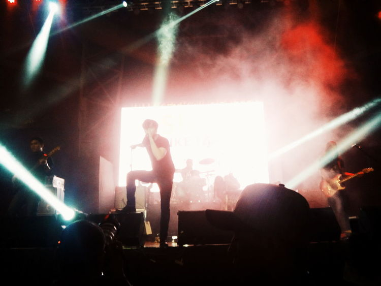 Arts Culture And Entertainment Music Performance Nightlife Lifestyles Musician Skill  Stage - Performance Space Performer  Musical Equipment Party - Social Event Philippines2016 Photography CagayanDeOro Amateur VSCO CGY Callalily Keancipriano Amazing Concert Standing Microphone Illuminated Memorable