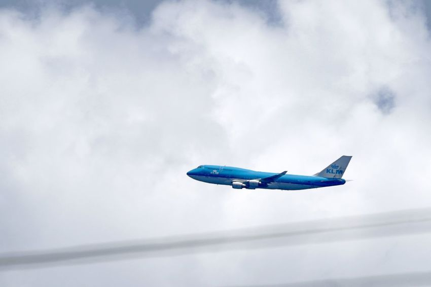 KLM Airplane Blue Blue Jet Cloud - Sky Day Flying Jumbo Jet Mid-air No People Outdoors Single Object Sky