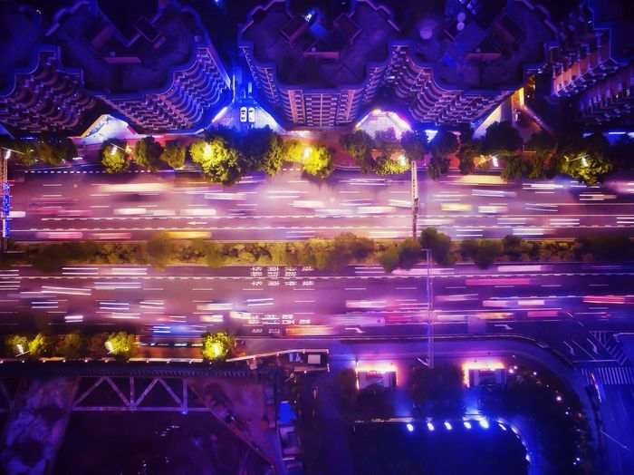 俯视黄埔大道 Night Lights Night Aerial Shot Beautiful Day Guangzhou China Dji Long Exposure Building