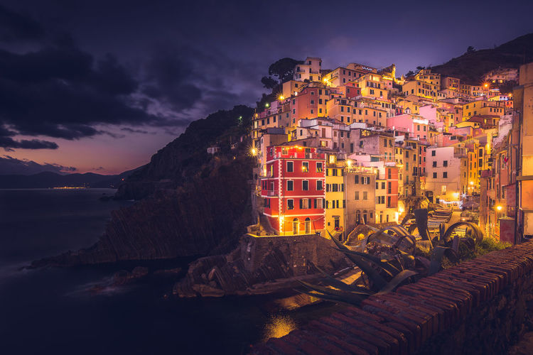Riomaggiore, Cinque Terre (Italy), end of December 2016. Architecture Cinque Terre Cinque Terre Cityscape Cinque Terre In Winter Cityscape Dusk Fishermenvillage Italian Fishermen Village Italy🇮🇹 Landscape Liguria,Italy Night Outdoors Scenics Tourism Tourist For A Day Tourist In Cinque Terre Travel Destinations Paint The Town Yellow Paint The Town Yellow