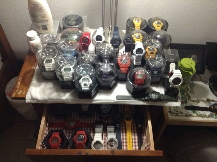My collection Gshock's, Rolex, and Bell&Ross