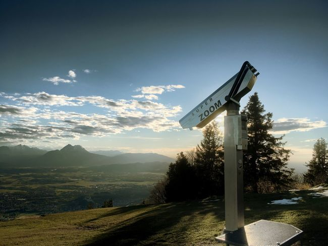 Sky No People Mountain Nature Road Sign Cloud - Sky Day Outdoors Beauty In Nature Salzburg Landscape Grass Austria
