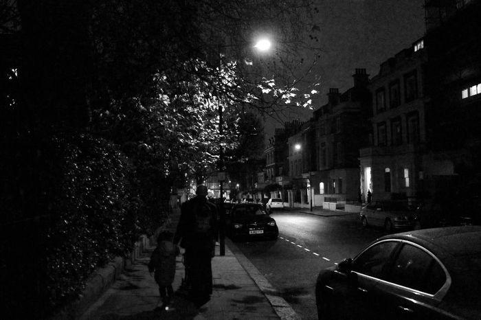 B&w Street Photography Taking Photos Nightphotography Night Lights Darkness And Light London Late Night Walk