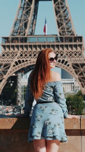 Young woman looking on paris
