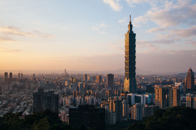 ASIA Taipei 101 Taipei,Taiwan Taiwan Architecture Building Exterior Built Structure City Cityscape Day Development Growth Indoors  Modern No People Office Park Outdoors Sky Skyline Skyscraper Sunset Taipe Photography Taipei Tall Tower Travel Destinations Urban Skyline