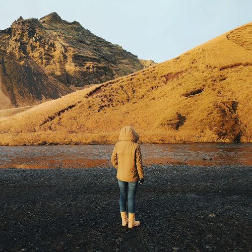 Iceland trip Women Full Length Standing Desert Mountain Photography Themes Rear View Arid Climate Sky Landscape