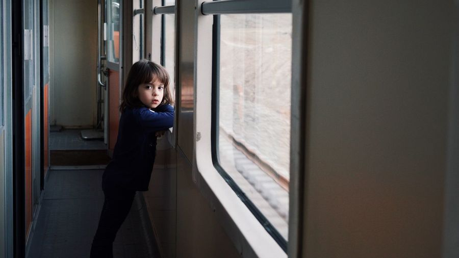 Are we there yet? Train Girl Portrait Kid Portrait EyeEmNewHere Morrocco Real People On The Way