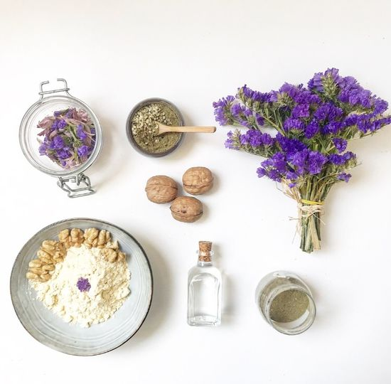 Natural Beauty Natural Beauty Facial Facial Experiments Beauty Routine Skincare Food Therapy Food Beauty Oil Beauty Product Beauty In Nature Flower Lavender White Background Purple Table No People Plant Freshness