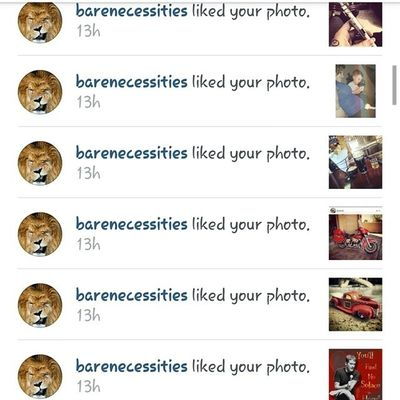 Showing the love. Thanks @barenecessities