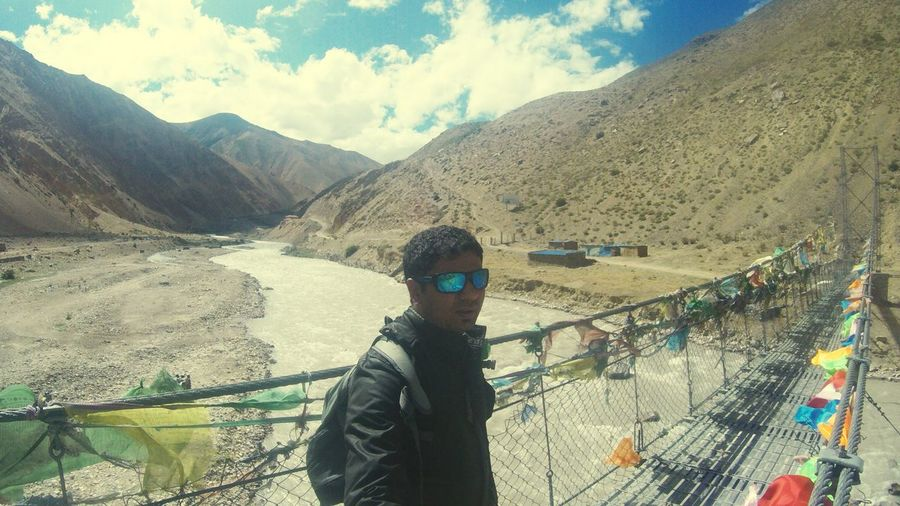 Hello World OpenEdit Taking Photos Border Crossing Nepal hillas to Tibet River Crossing Sunny Day Traveling