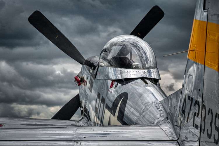 EAA Airventure, Oshkosh 2018 Prop Propeller P51 Mustang Aviation Aerobatic Aero Aerospace Warbird Airshow Aircraft Plane Air Vehicle Cloud - Sky Sky Airplane Military No People Security Day Metal Protection Outdoors Fighter Plane Aerospace Industry