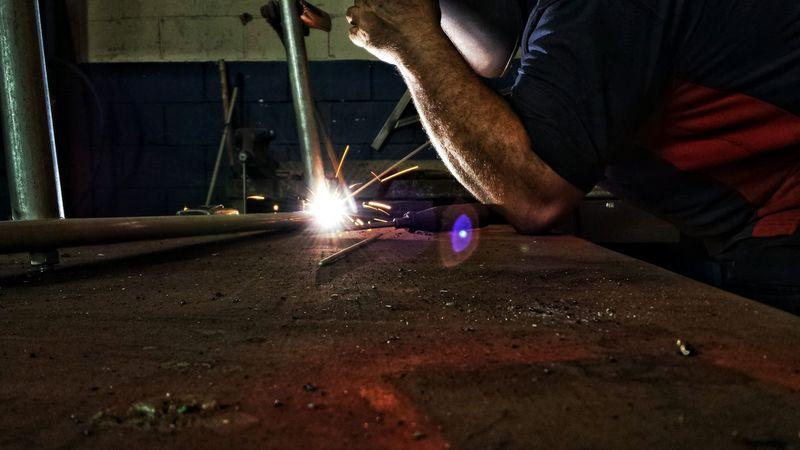 Soldador Welding Welding Work Welding An Iron Structure Weld Herrero Herrería Blacksmith