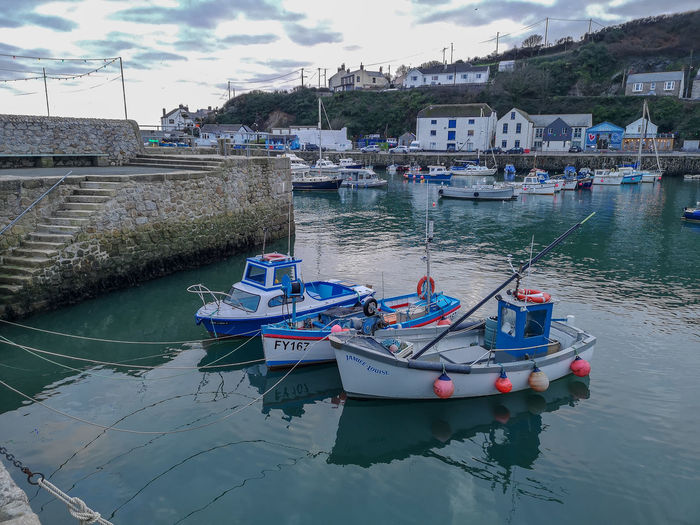 porthleven Harbour Harbour Town Historic Travel Tranquility Water Nautical Vessel Sailing Moored Sea Harbor Sailboat Reflection Sailing Ship Beach Recreational Boat Boat Mast Fishing Boat Yacht Port Dock Trawler