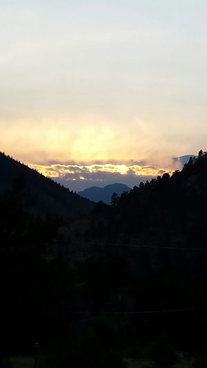 Beautiful sunset in the Rockies