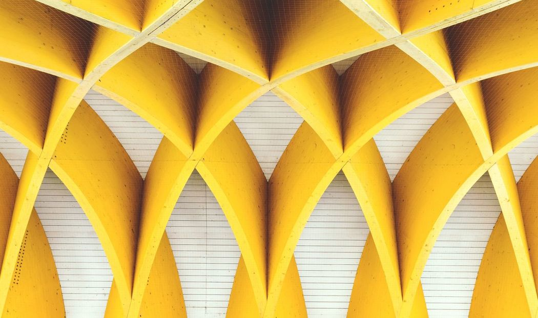 yellow, full frame, backgrounds, architecture, pattern