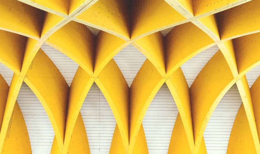 ACV Vienna Yellow Backgrounds Connection Abstract Symmetry Pattern Full Frame Close-up Man Made Object Urban Urban Geometry Geometry No People Architecture Day Outdoors EyeEmNewHere Vienna Austria Symmetrical Architecture Architecture_collection Architectural Detail EyeEmNewHere Editor's Picks