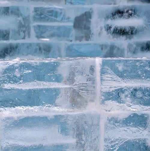 Ice Ice Blocks Ice Block Wall Frozen Cold Temperature Outdoors Ice Block Structure Winter Wintertime Winter Wonderland 氷 氷の世界 Ice Carving Ice Cube