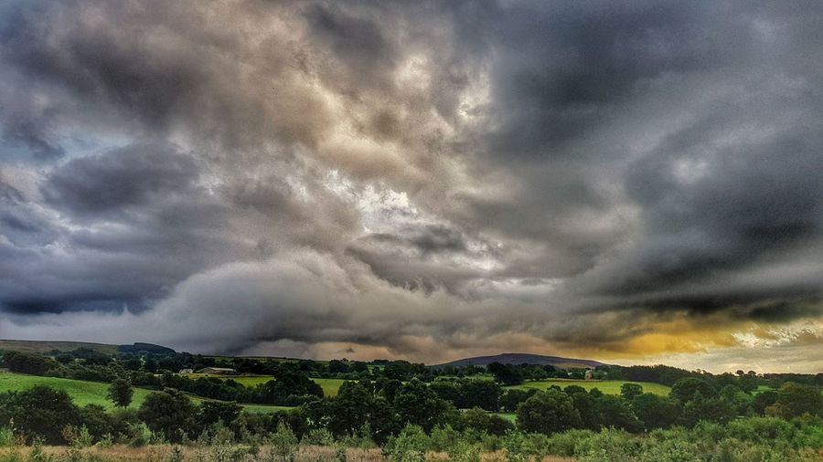 Weather Britishweather Countryside Cloudporn Clouds Sunsets_oftheworld Cumbria Thunderstorm Tree Storm Cloud Rural Scene Agriculture Storm Sunset Atmospheric Mood Dramatic Sky Dramatic Landscape Cloudscape Moody Sky Power In Nature Overcast