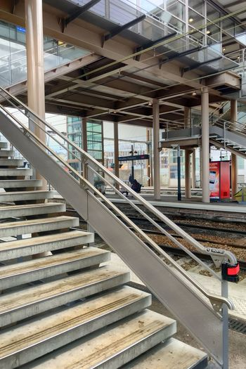 Gare Architecture Built Structure Rail Transportation Track Railroad Track Day Architectural Column Public Transportation Transportation No People Staircase Station
