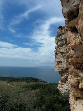 https://it.m.wikipedia.org/wiki/Fortino_di_Sant%27Ignazio Cagliari, Sardinia Sardinia Sardegna Italy  Sardinia Sardegna Fortino Di Sant'Ignazio Water Sea Cliff Rock - Object Rock Formation Sky Horizon Over Water Cloud - Sky Landscape