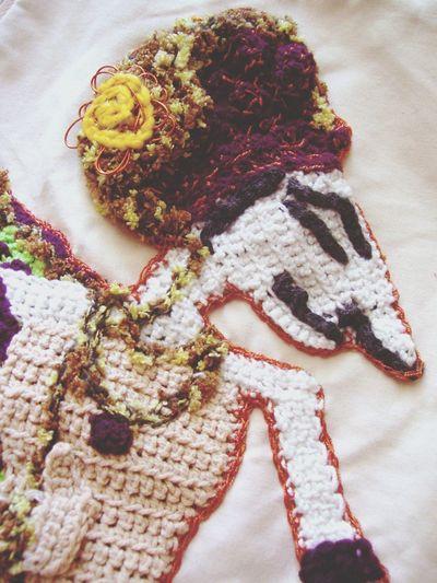 Wayang Crochet Handmade Backpack