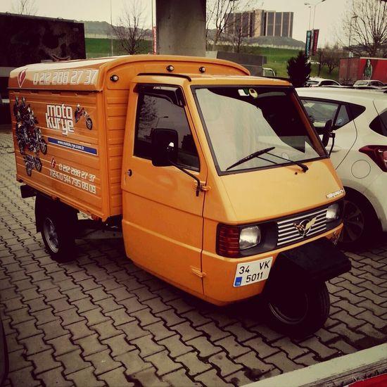 Car Threewheel Orange Streetphotography
