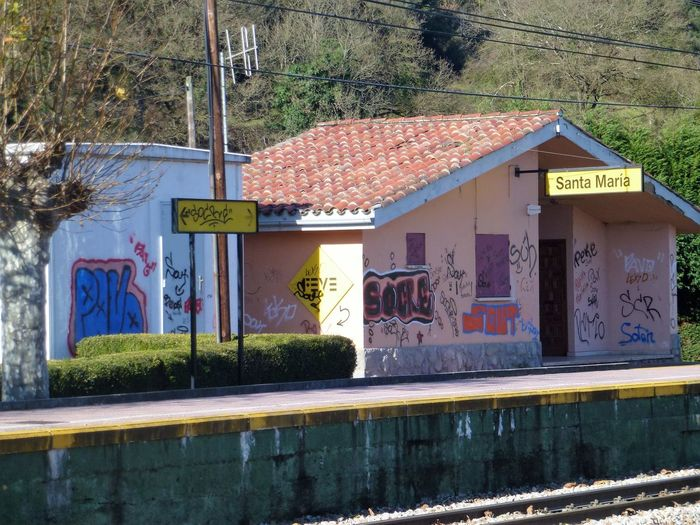 Northern Spain Oviedo Village Railsway Northern Spain Architecture Building Exterior Built Structure Day Lost Railway Station No People Outdoors Railway Station Tree Water Window