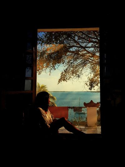 Lau en Bacalar One Person Only Women Adults Only One Woman Only Mature Adult Adult Window Day Sky Indoors