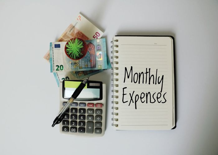 Monthly Expenses Money Cash Euro USD Liabilities Household Expenses Calculator Mathematics Saving Spent Grocery Shopping Pay Bills Budget Overspending Investing In Quality Of Life Breathing Space The Week On EyeEm