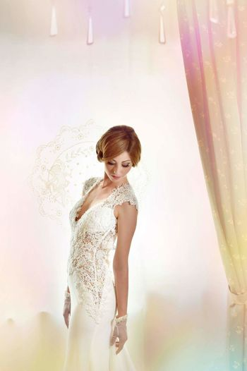 One Person Beauty Fashion Beautiful People Portrait People Females Standing One Woman Only Futuristic Pixelated Wedding Day Married Fashion Model Elégance Glamour