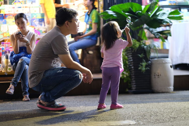 Fatheranddaughter Daughter Viet Nam People