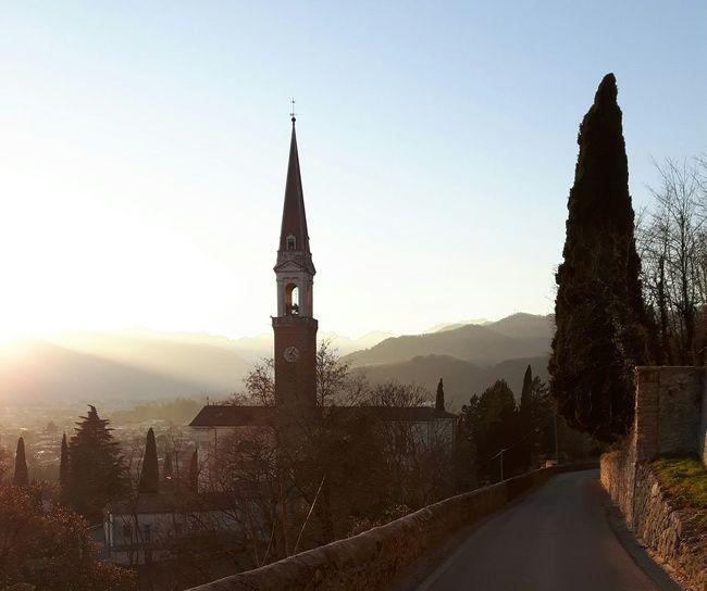 Italy 🇮🇹 Church at Dusk Veneto Italy Pathway Pathway To Heaven