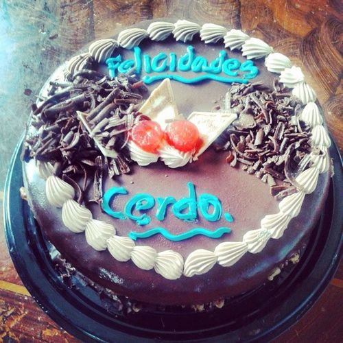 Mi torta 22anos FelicidadesCerdo