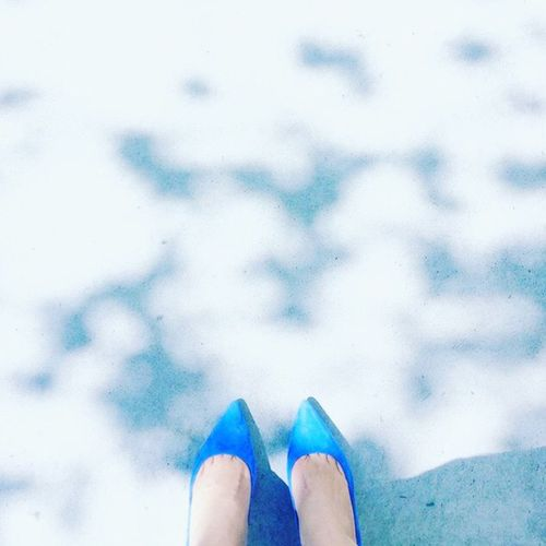 Blue Shadow And Light Shadow Shapes Shoes Pumps Pointyheels Street Personal Perspective Human Body Part Standing Spring