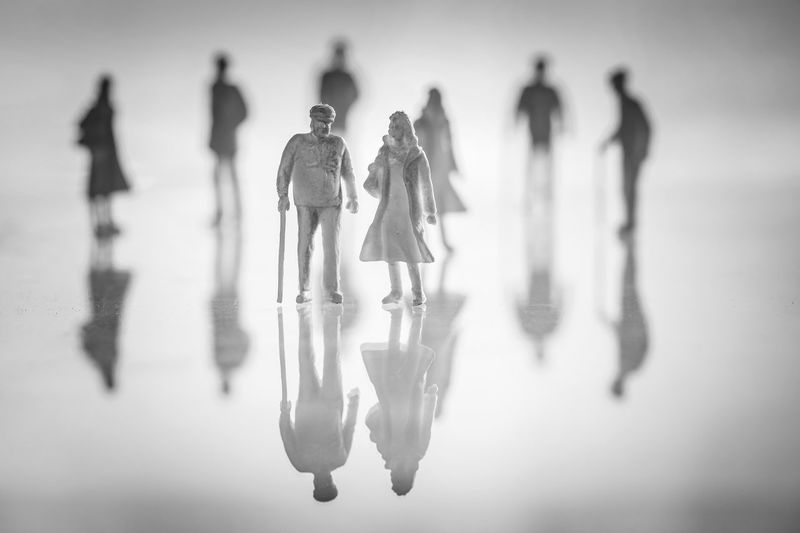 Figures Black And White Blackandwhite Figurine  Figurines  No People People Plastic People Reflection Reflections