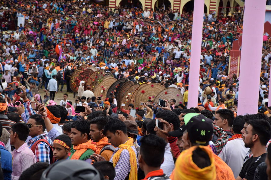 Bagwal festival in uttarakhand Large Group Of People Outdoors Togetherness Match - Sport Fan - Enthusiast Nainital Uttarakhandculture