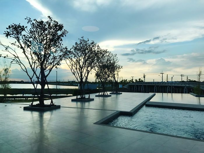 Scenery House Swimming Pool Variosuvarnabhumi Waterfront Built Structure Architecture Infinity Pool Clouds And Sky Sunset Breathing Space