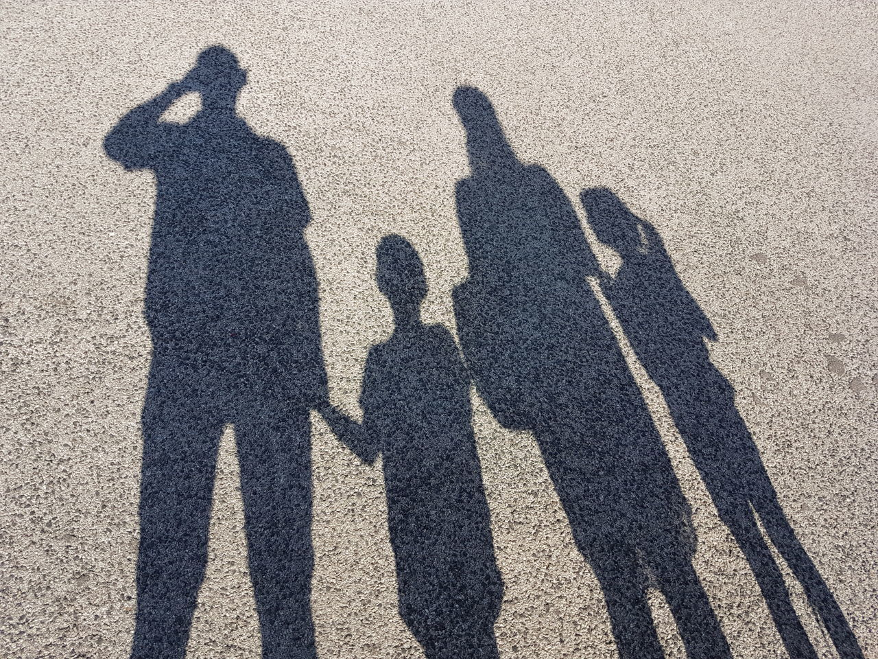 Shadow Of Family On Field