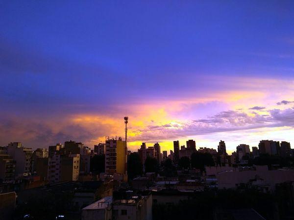 Mi balcón City Cityscape Urban Skyline Skyscraper Sunset Modern Sky Architecture Cloud - Sky